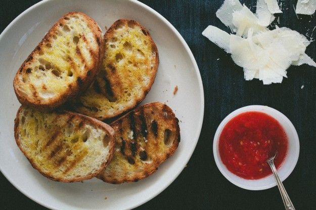 tomato toast with parmesan | Party Ideas | Pinterest