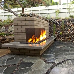 diy build outdoor fireplace outdoorsy type