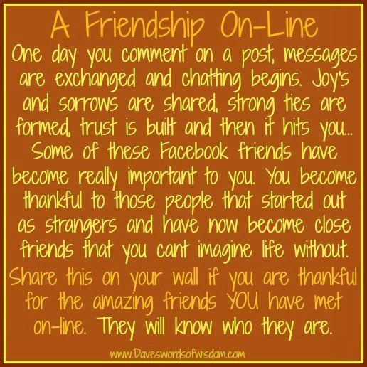 online friendship