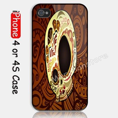 Dia De Los Muertos Custom iPhone 4 or 4S Case Cover