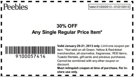Peebles coupons printable 2018