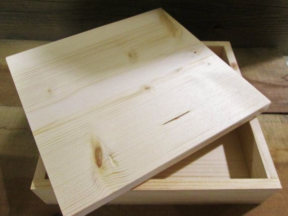 Unfinished Wood Box with Lid