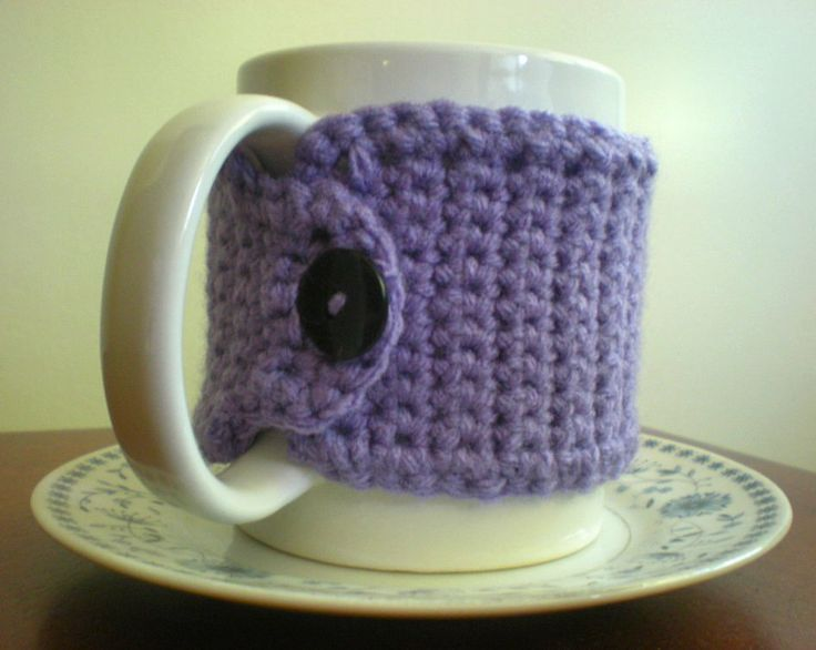Mug Cozy {Free Crochet Pattern} Crochet-Kitchen Pinterest