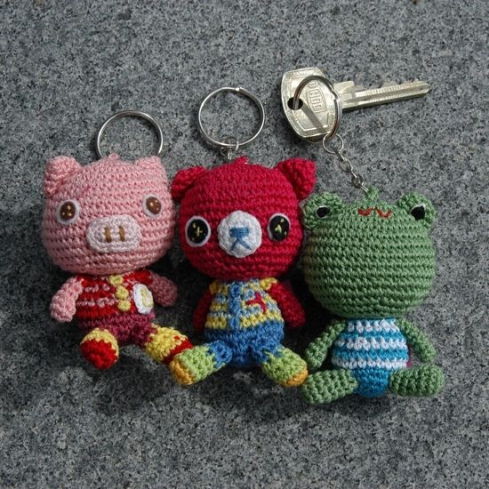 gehaakte sleutelhangers Keychain Crochet Pinterest
