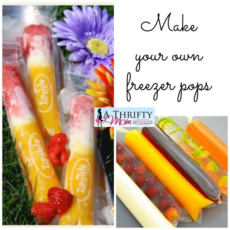 Make your own freezer pops freezer bags ~ A Thrifty Mom #healthy #icepops #summer
