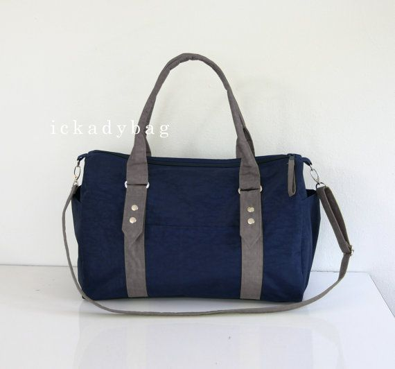 SALE Messenger Bag  Diaper Bag  Tote in Navy blue  by ickadybag,  ...