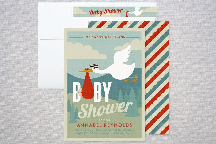 baby shower invitations adventure travel baby shower p