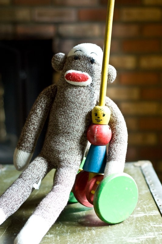 Vintage PlaySchool Wooden Push Toy