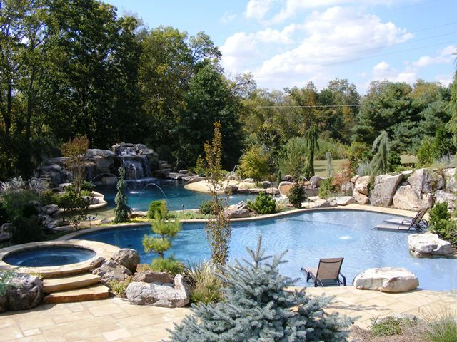 Backyard Resort Pool Home Design Pinterest