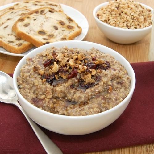 Cherry Hazelnut Oatmeal, use GF oats