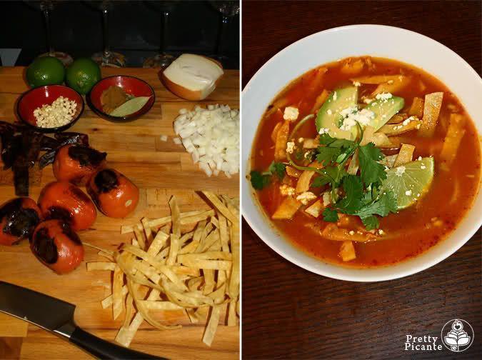 Chicken Tortilla Soup (Sopa Azteca) | Food | Pinterest