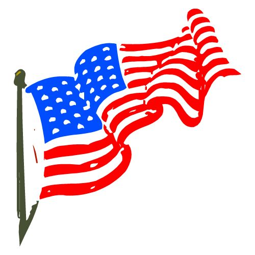 christian clip art flag and crosses veterans day