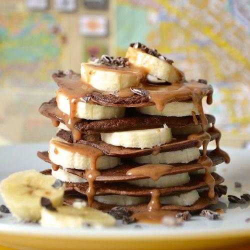 peanut butter banana chocolate crepes | Food - Desserts | Pinterest