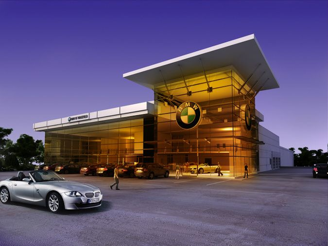 Pinterest for Car showroom exterior design