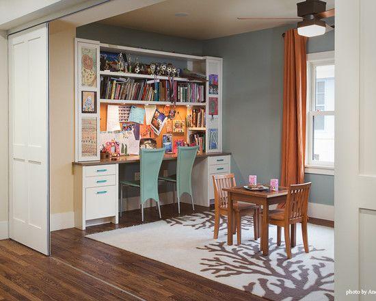 Pin by katrina singletary on kids room ideas pinterest for Office dining room combo ideas