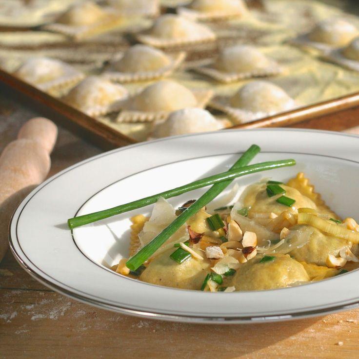 mushroom & leek ravioli   Recipes: Pasta   Pinterest