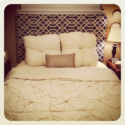 DIY fabric covered headboard....  Dream Home  Pinterest