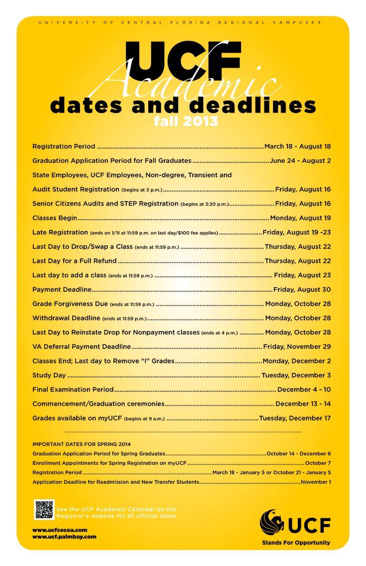 Fall semester dates in Melbourne