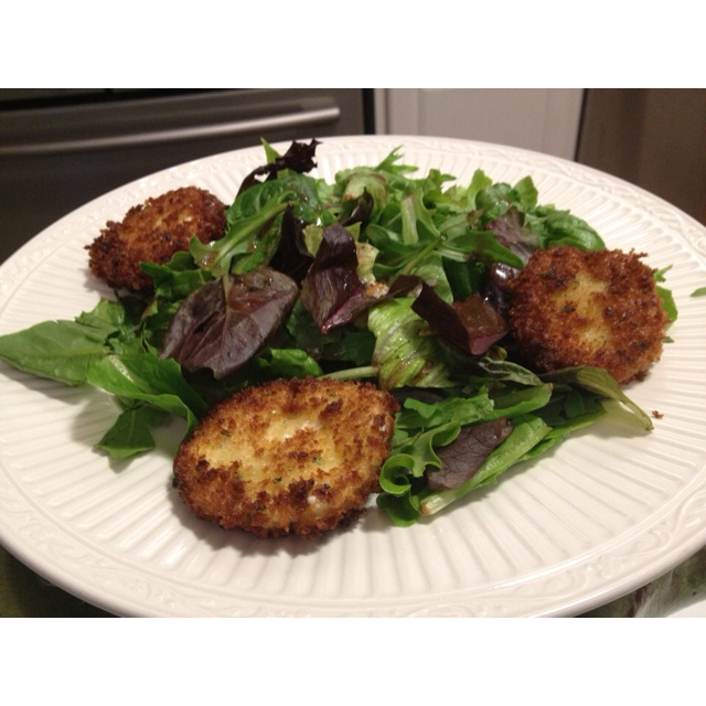 Fried goat cheese salad | Salads | Pinterest