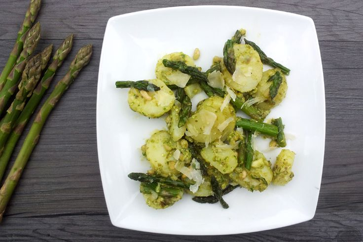 Asparagus & New Potato Salad In Caper Pesto Dressing [vegan] by The ...