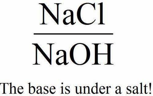 The base is under a salt!