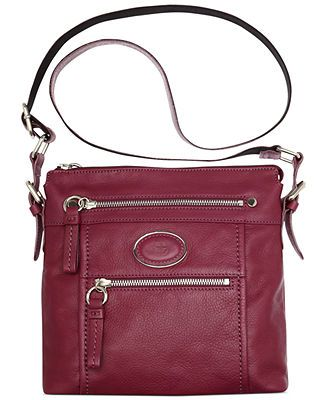 Giani Bernini Handbag, Collection Leather North South Crossbody l Macy ...