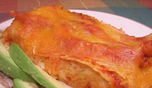 Three Cheese Chicken Enchiladas. Photo by Lavender Lynn. These are the ...