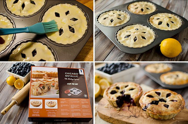 Mini Blueberry & Meyer Lemon Cream Pies | Recipe