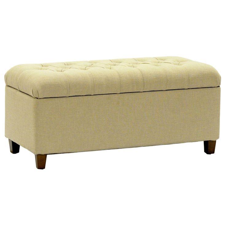 Kinfine Large Khaki Linen Upholstered Button Tufted
