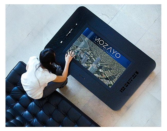 MSTRF / Mozayo Interactive Touch Coffee Table  Oak with by MSTRF, $6,900.00