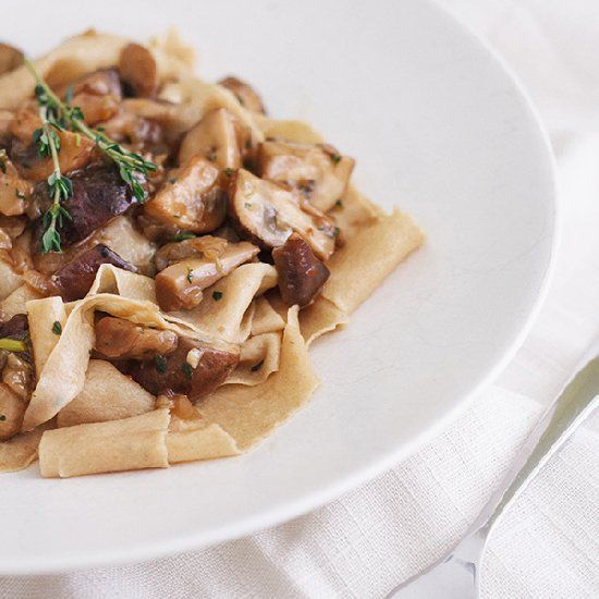 Toasted Pappardelle with Mushroom Ragu | Lunch | Pinterest