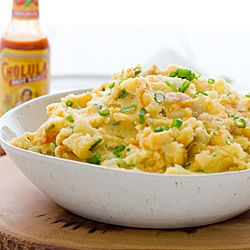 Cheddar & Cholula Mashed Potatoes - Cheesy, spicy, and perfect in ...