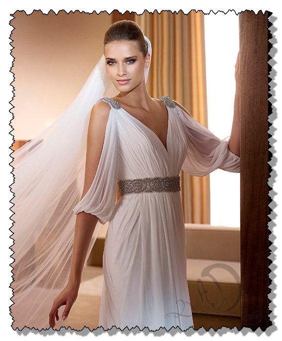Свадебный платья в греческом стиле