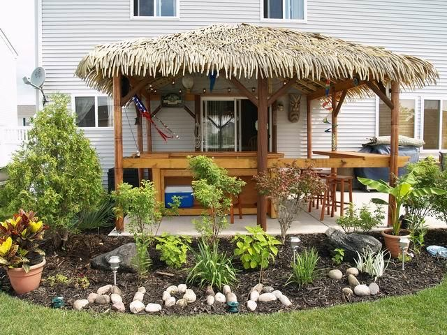 Backyard Tiki Hut Plans : where could we put Aloha rocks?  YARDCORE!  Pinterest