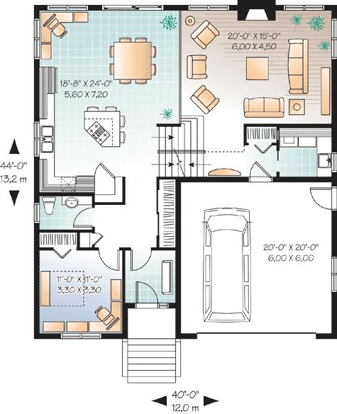 Flexible 3 Bedroom House Plan