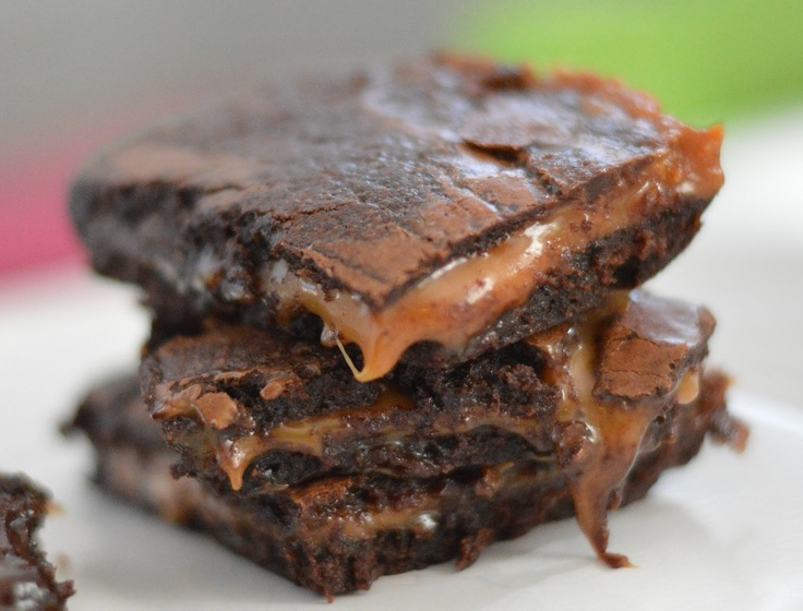 caramel sea salt brownies | Dessert | Pinterest