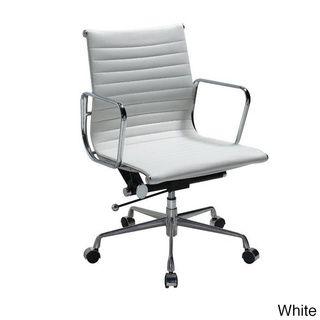 Manhattan Comfort Metro Mid Back Adjustable Office Chair Overstock