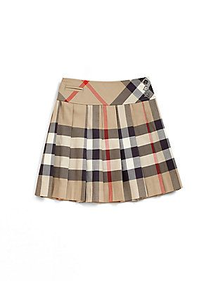 burberry s pleated check skirt these are my