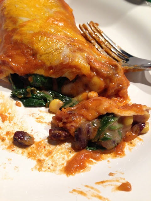 Black Bean and Spinach Enchiladas | Recipes | Pinterest