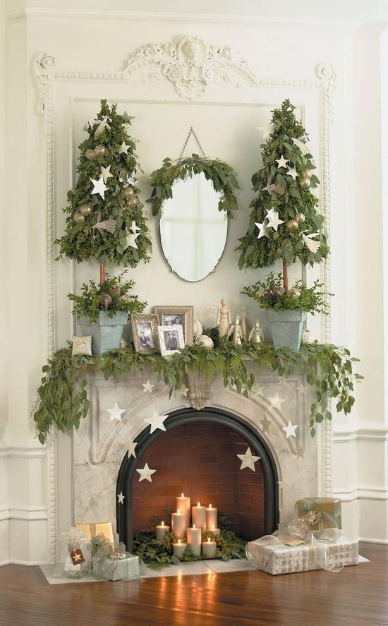 christmas mantle beautiful christmas ideas pinterest
