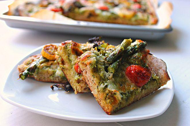 Roasted Vegetable Flatbread | Delectable Vegetables | Pinterest