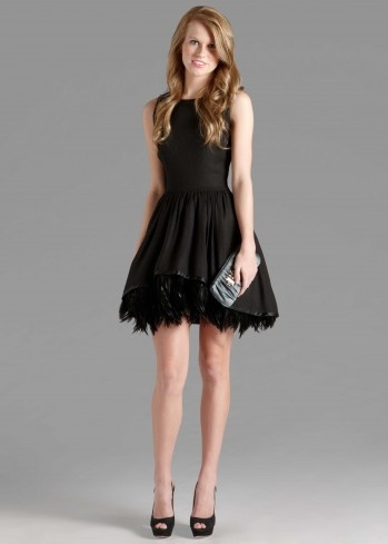 Full Feather Dress - Top contender for the next wedding rental!