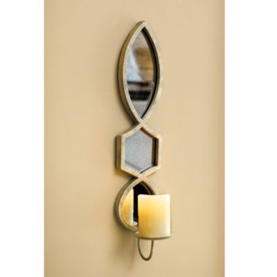 Elise Candle Sconce | Ballard Designs- dining room on either side of mirror
