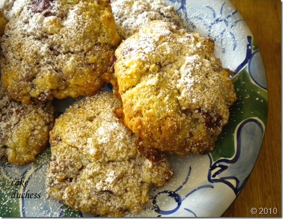 sour cherry scones with white chocolate chips