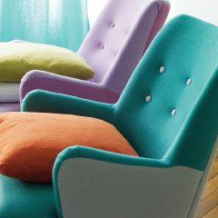 color block retro chairs: Designers Guild
