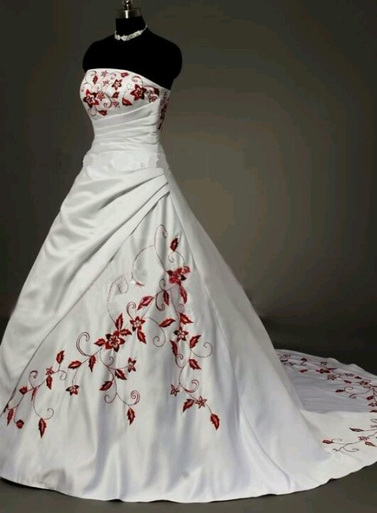 My wedding dress random pinterest for Wedding dresses white and red