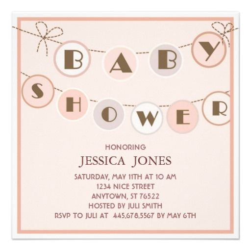 simple pink baby shower invitations entertaining pinterest
