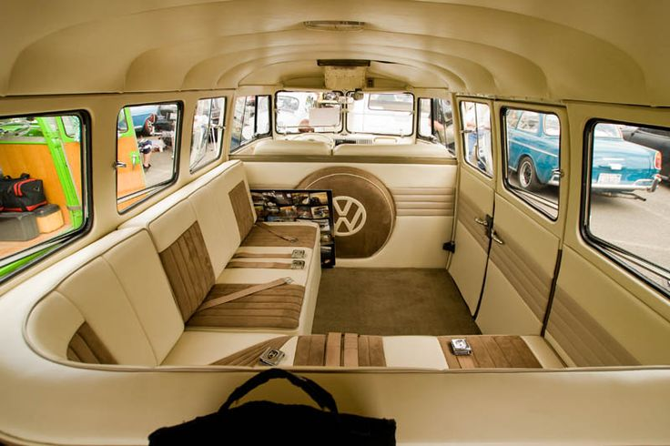 Sweet custom vw bus interior just cool stuff pinterest for Vw kombi interior designs
