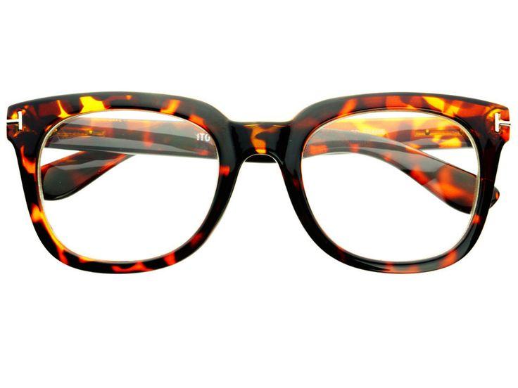 Clear Lens Retro Nerd Wayfarer Eyeglasses Frames Tortoise ...