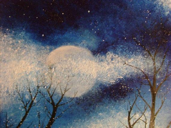 Winter Night   art projects/ crafts   Pinterest